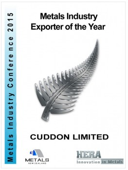 HERA Plaque Award for Cuddon 2015