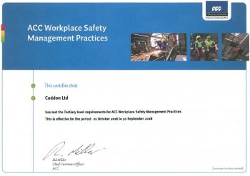 acc workplace cert